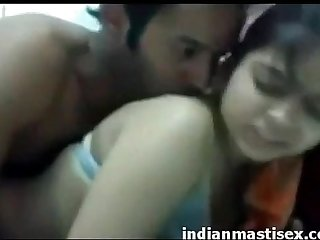 Indian sweet boyfriend with cute fully horny girlfriend doing softly sex