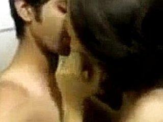 Couple Enjoying Nude Kissing