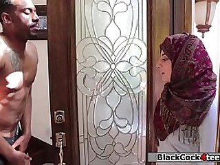 Hot arab babe rammed hard by her neighbors big black dick