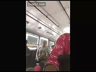 Desi old man show her dick on bus