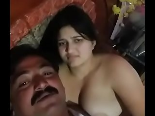 Indian couple sex and romance in bedroom